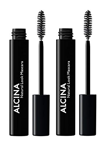 2er Natural Look Mascara 010 Black Dekorative Kosmetik Alcina Wimperntusche