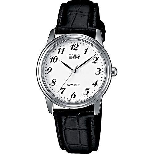 Casio Herren Analog Quarz Uhr mit Leder Armband MTP-1236PL-7BEF