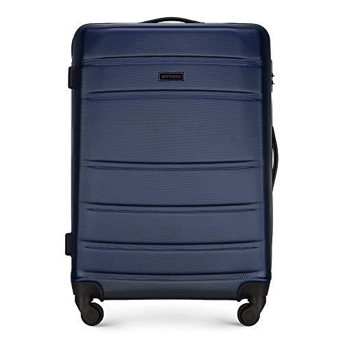 WITTCHEN Koffer – Mittelgroßer   hartschalen, Material: ABS   hochwertiger und Stabiler   Dunkelblau   54x46x37 cm