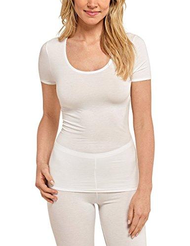 Schiesser Damen Personal Fit Shirt 1/2 Arm Unterhemd, Beige (naturweiss 412), 38 (Herstellergröße: M)