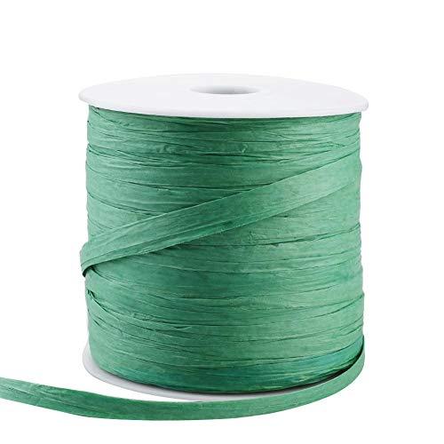 Buding Bast Papierband Geschenkband, 210 M Bast Raffia Natur Papierschnur, Packschnur Für Handwerksprojekte, Geschenkverpackung, Weben Und Gärtnern