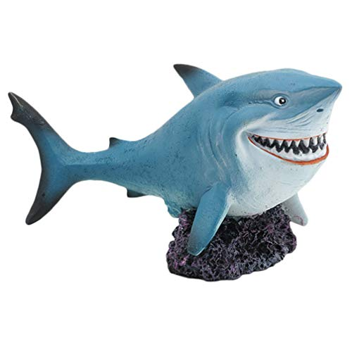 Balacoo Resina Tiburón Decortion Pecera Decortiva Acuario Arte Encantos Océano Animal Escultura Figurita para Acuario Florero Rellenos Centros de Mesa de Boda