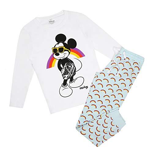 Disney Mickey Mouse Shades Pyjama Set Juego de Pijama, Multicoloured, 12 Regular para Mujer