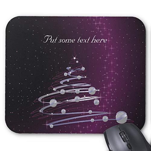 Mauspad mit seidenweicher Textiloberfl?che - Mouse Pad Paradise (antistatische Wirkung - perfekte Gleiteigenschaft PC / Computer Mousepad)-abstrakter silberner weihnachtsbaum auf leuchtendem lila