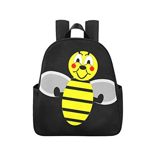 Bienenwespe Hummel Honigbiene Insekt Honig Gelb Tagesrucksack 12.40x5.12x14.17inch Rucksack Für Jugendliche Mehrzweck Lässiger Leichter Rucksack Geschäftsreiseschule, Büro