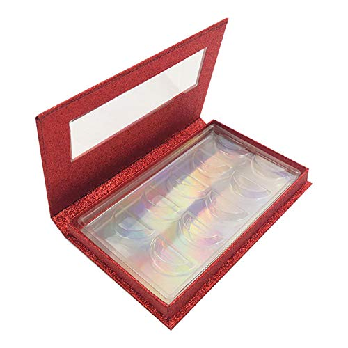 5 paires de faux cils vides pour ranger différents types de faux cils (rouge)