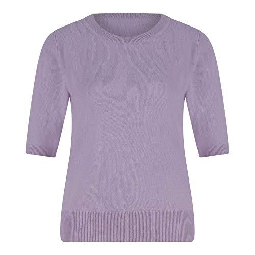 Donna Lane Cashmere-Pullover mit kurzen Ärmeln Flieder (Flieder) S
