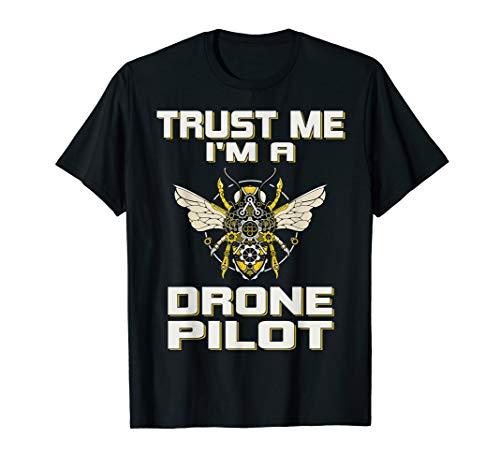 Drohne Drone Quadrocopter Modellbau Pilot Fliegen T-Shirt