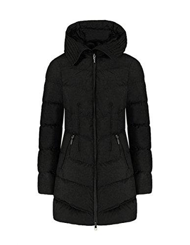 Geospirit Damen Trench Coat Hemilton, schwarz, 42 (Herstellergröße: 42)
