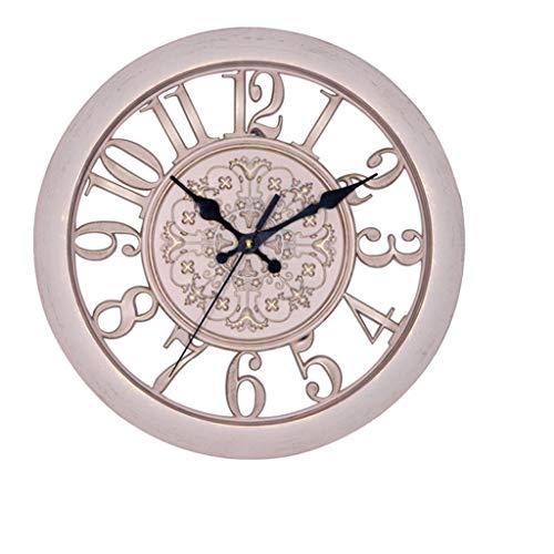 ZQQBRZXFT Reloj De Pared Retro Europeo, Reloj De Cuarzo Silencioso Creativo De...