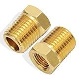 Boeray 1/4 Inch NPT Male Thread to 1/8 Inch NPT Female Thread Brass Pipe Fitting, Reducing...