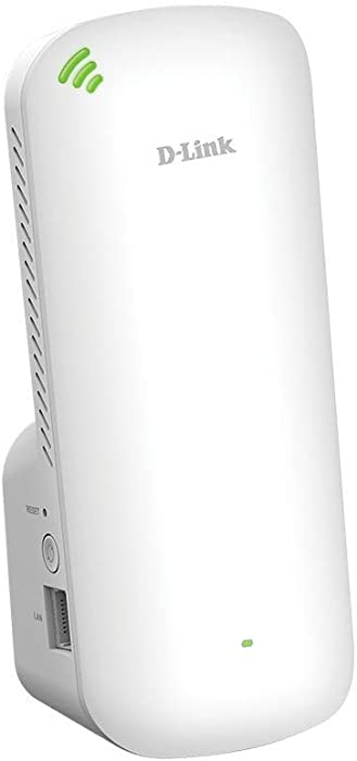 D-Link WiFi 6 Range Extender AX1800 Mesh Repeater and Signal Booster, Wall Plug in, Easy Setup, Smart Home Roaming, Ethernet Port (DAP-X1870)