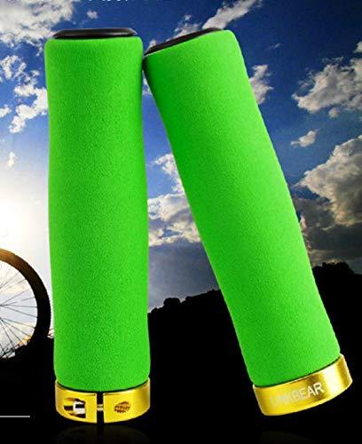 CarbonEnmy - Mango ultraligero para manillar de bicicleta de montaña, de esponja, con cerradura, para esponja gruesa, antideslizante, Gruen