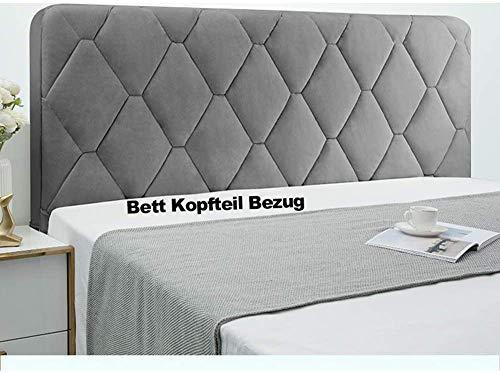 WSGJHB Bett Kopfteil Bezug Bettkopfteil Hussen Kopfteilbezug Staubdicht Verdicken Gesteppt Einfarbig Baumwolle Kopfbedeckungen Kopfende Bettdecke,Grau,150cm(59inch)