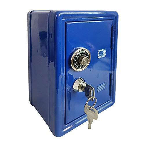 WMSD Nueva Caja de Ahorro de Ahorro en Efectivo con Depósito Bancario de Metal de Seguridad Segura 2 Llaves E65B