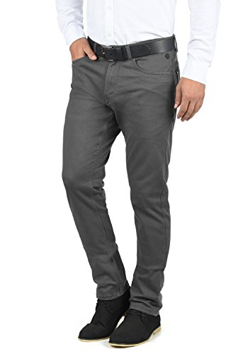 Blend Saturn Herren Chino Hose Stoffhose Aus Stretch-Material Slim Fit, Größe:W33/34, Farbe:Ebony Grey (75111)