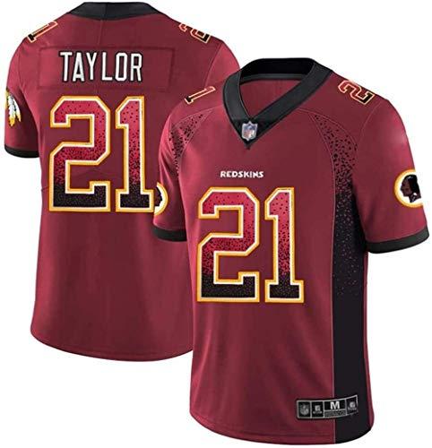 FFZH Equipos Populares Sean Taylor 21 Camiseta Fan Edition Camiseta de edición Limitada Salute 2021-L_Rojo