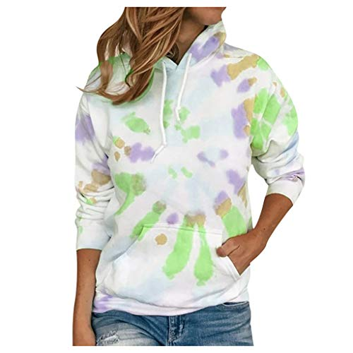 Why Choose AHUIGOYCE Women Active Plus Size Tie-Dye Printed Drawstring Gradient Pullover Long Sleeve...