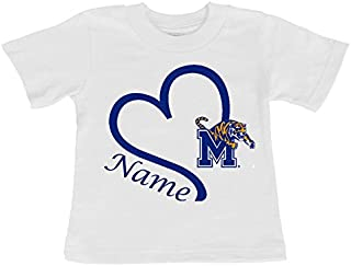 Future Tailgater Memphis Tigers Personalized Heart Baby/Toddler T-Shirt