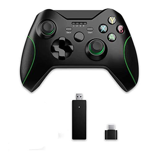 CHENC Bluetooth-Game-Controller, 2.4G Wireless-Gaming-Controller PC Gaming Joystick Mit Dual Shock Vibration Mit Verstellbarem Halter Halter Für PS3 / PC Usw.