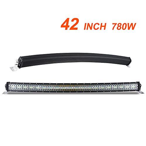 42 Zoll Curved LED bar offroad led balken 12v 24v 3 Rows Fahrscheinwerfer Flut Spot Combo Strahl Arbeitslicht Nebelscheinwerfer für Auto SUV ATV LKW 4x4