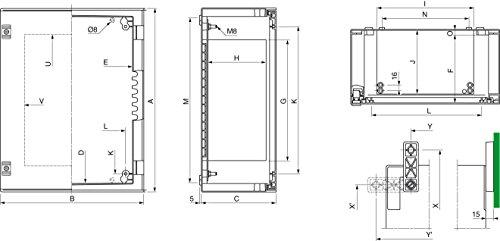 Schneider elec pue - pco 31 10 - Armario poliester plm 530x430x200 ip66 7035