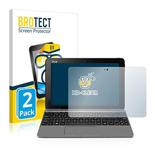 BROTECT Schutzfolie kompatibel mit Asus Transformer Book T101 (2 Stück) klare Bildschirmschutz-Folie