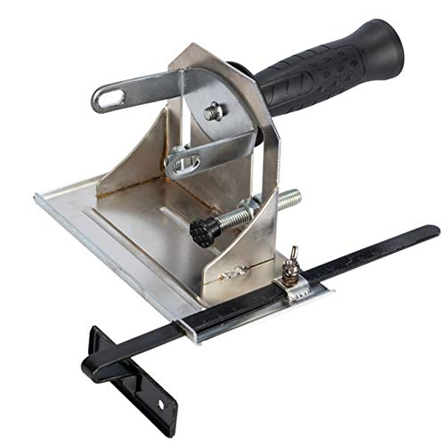 Tongdejing 45 ° ángulo amoladora, soporte de soporte de ranura duradero soporte de corte de posicionamiento soporte ajustable
