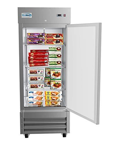 KoolMore 29' 1 Door Stainless Steel Upright Commercial Reach-in Freezer - 23 cu. ft