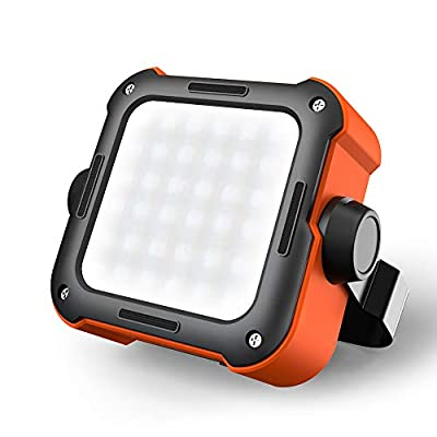 ROCKPALS LED Camping Lantern Rechargeable, 1000LM Waterproof Tent Light with 5 Light Modes, 10000mAh Power Bank, Perfect Camping Light for Hurricane, Emergency, Outdoor, Hiking