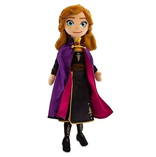 SDFZ Frozen Anna Muñeco De Peluche De Juguete Princesa Muñeca Juguetes De Peluche De Cumpleaños Niños Niñas 40Cm