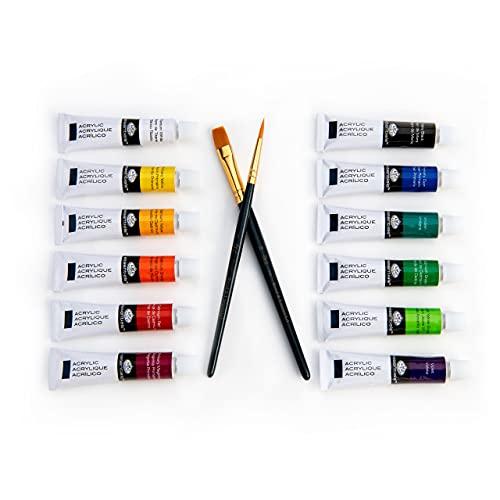 Royal & Langnickel Tube de peinture acrylique 12 couleurs