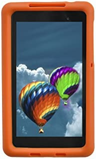Bobj Rugged Case for Nexus 7 FHD 2013 Model Tablet - BobjGear Custom Fit - Patented Venting - Sound Amplification - BobjBounces Kid Friendly (Not for 1st Generation 2012 Nexus 7) (Outrageous Orange)