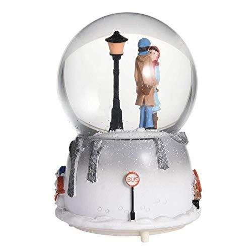 D/L El más Nuevo 3D LED Couple Crystal Ball, Romantic Lover Musical Box, Lover in Snow Luz automática Creativa Regalo de San Valentín cambiable para la decoración del hogar de la Boda