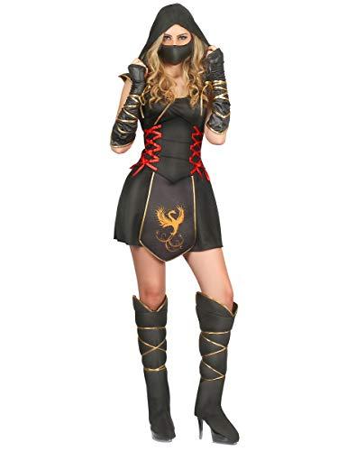 Generique - Disfraz Ninja para Mujer guerrera M: Amazon.es ...