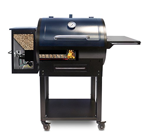PIT BOSS 72700S PB72700S, Pellet, Electric Grill, BBQ Smoker, 700 sq. in, Black with Blue Lid