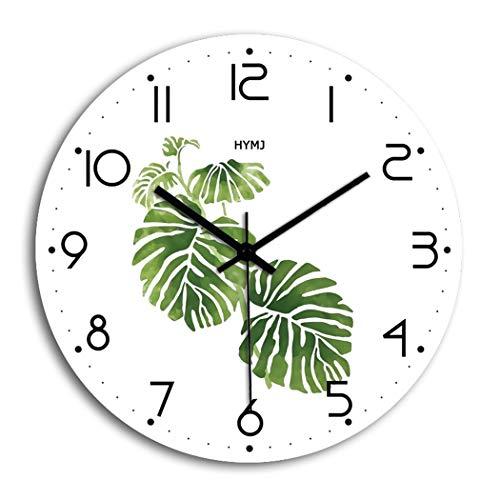 S.W.H Reloj de Pared Moderno, Patrón de Hoja Simple Decorat