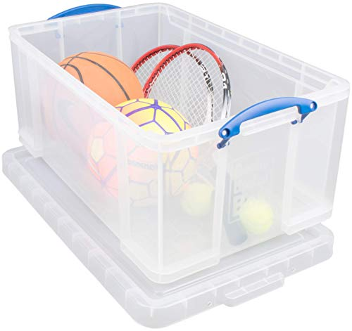 Really Useful Box 64CCB Aufbewahrungsbox, 64 L, klar transparent