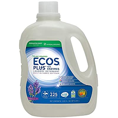 Ecos Plus Laundry Detergent With Enzymes (225 HE loads, 225 fl. oz.)