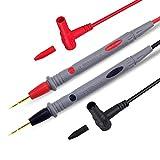 Multímetro ultra afilado 1000 V 20 A punta de aguja 35 ′ / 90 cm de cable de prueba chapado en oro