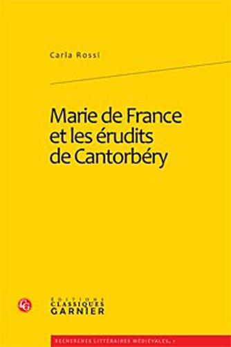 Marie de France et les érudits de Cantorbéry PDF Books