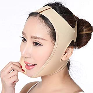 Face Lifting Slimming Belt, Facial Cheek V Shape Lift Up Thin Mask Strap Face Line Smooth Breathable Compression Double Chin Reduce Bandage (S)