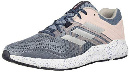 adidas Women's Aerobounce ST 2 Running Shoe, raw Grey/Silver Metallic/Clear Orange, 9.5 M US