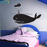 Etiqueta de la pared pegatina broma decoración de ballenas habitación infantil autoadhesiva jardín de infantes lindo mural regalo