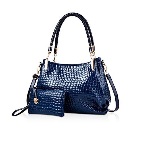 NICOLE & DORIS Neue handtasche Frauen Krokodilkorn PU Leder Damen Umhängetasche 2 Stücke Handtasche Crossbody Totes Große Tasche