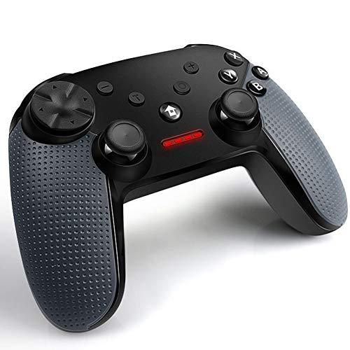 YMN Wireless Game-Controller, 2,4-GHz-Fern Wireless Game-Controller, mit Vibration Schock, für PC/Android Handys, Tablets, TV Box, Schwarz