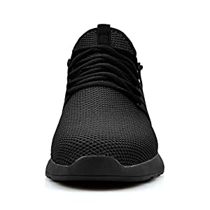 Feetmat Men's Non Slip Work Shoes Athletic Running Walking Tennis Gym Sneakers Tenis para Hombres Black 10 M