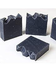 Black Soap, d'moRe 100% Natuurlijke Actieve Kool Zeep - Actieve Kool Zeep - Afrikaanse Zwarte Zeep - Afrikaanse Zwarte Zeep - Handgemaakt- Veganistisch- 100 gr
