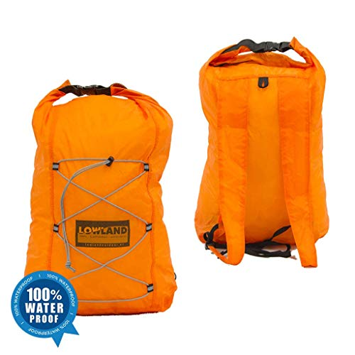 LOWLAND OUTDOOR Dry Back Pack Sac à dos, Orange, 10 Liter