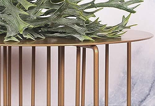 Nordic Designer Schmiedeeisen Blaumenst er Wohnzimmer Einfache Sofa Kreative Seite Mehrere Regale Display-st er, keine Notwendigkeit, Punsch ( Farbe   Golden braun , Größe   Trumpet high section )
